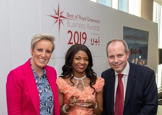 Image source: Royal Borough of Greenwich Best of Royal Greenwich Business Award 2019 winner ad Building Legaoies Client Grace Olugbodi (centre)